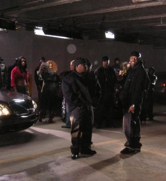 Music video shoot with Junior Mafia in Brooklyn, NY warehouse